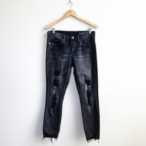Blank NYC : Distressed Cropped Skinny Jeans 29